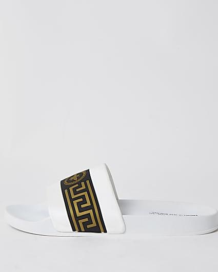 White Greek bee sliders