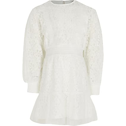 White lace victoriana dress