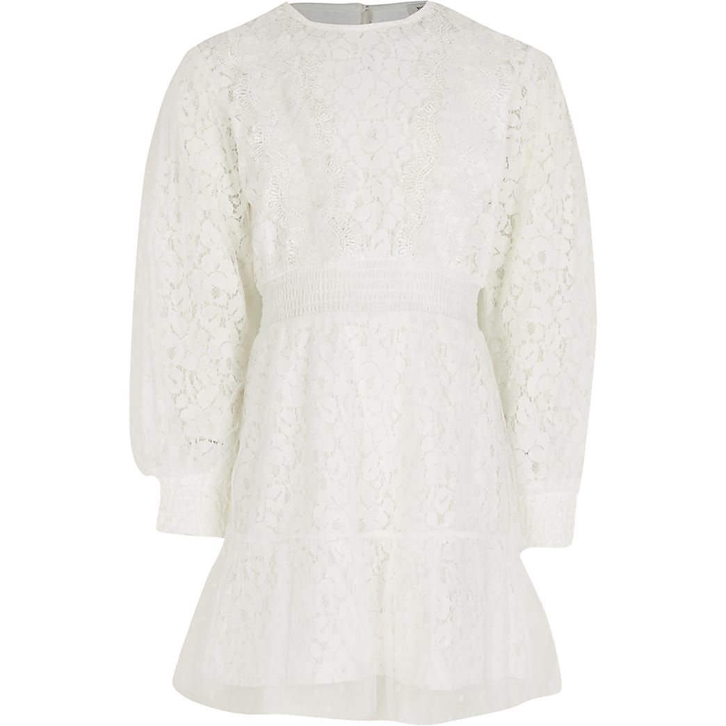 White lace victoriana dress