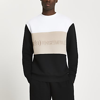 White 'Les Ensemble' colour block sweatshirt