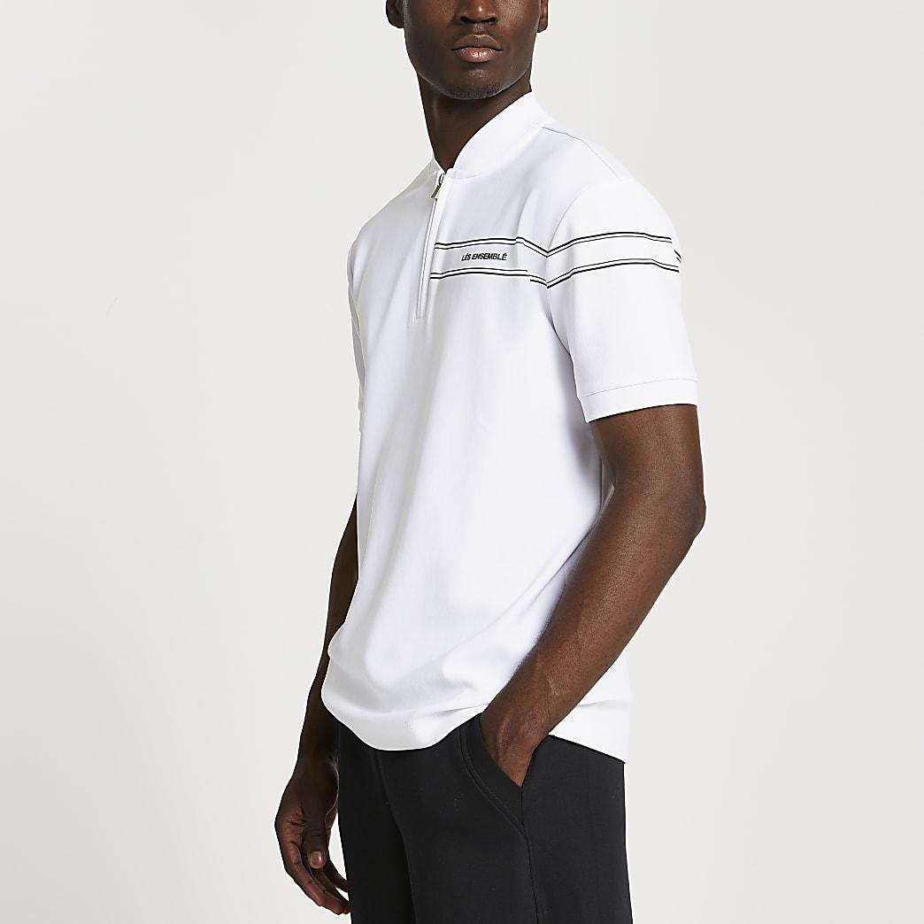White Les Ensemble slim fit polo shirt