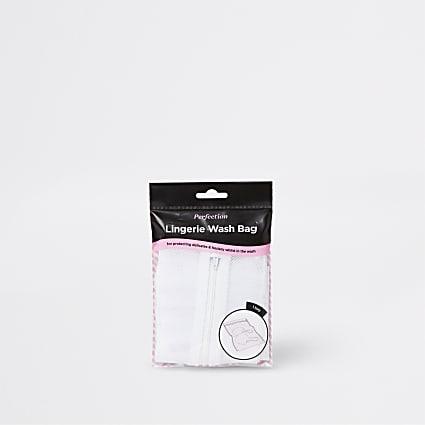 White lingerie wash bag