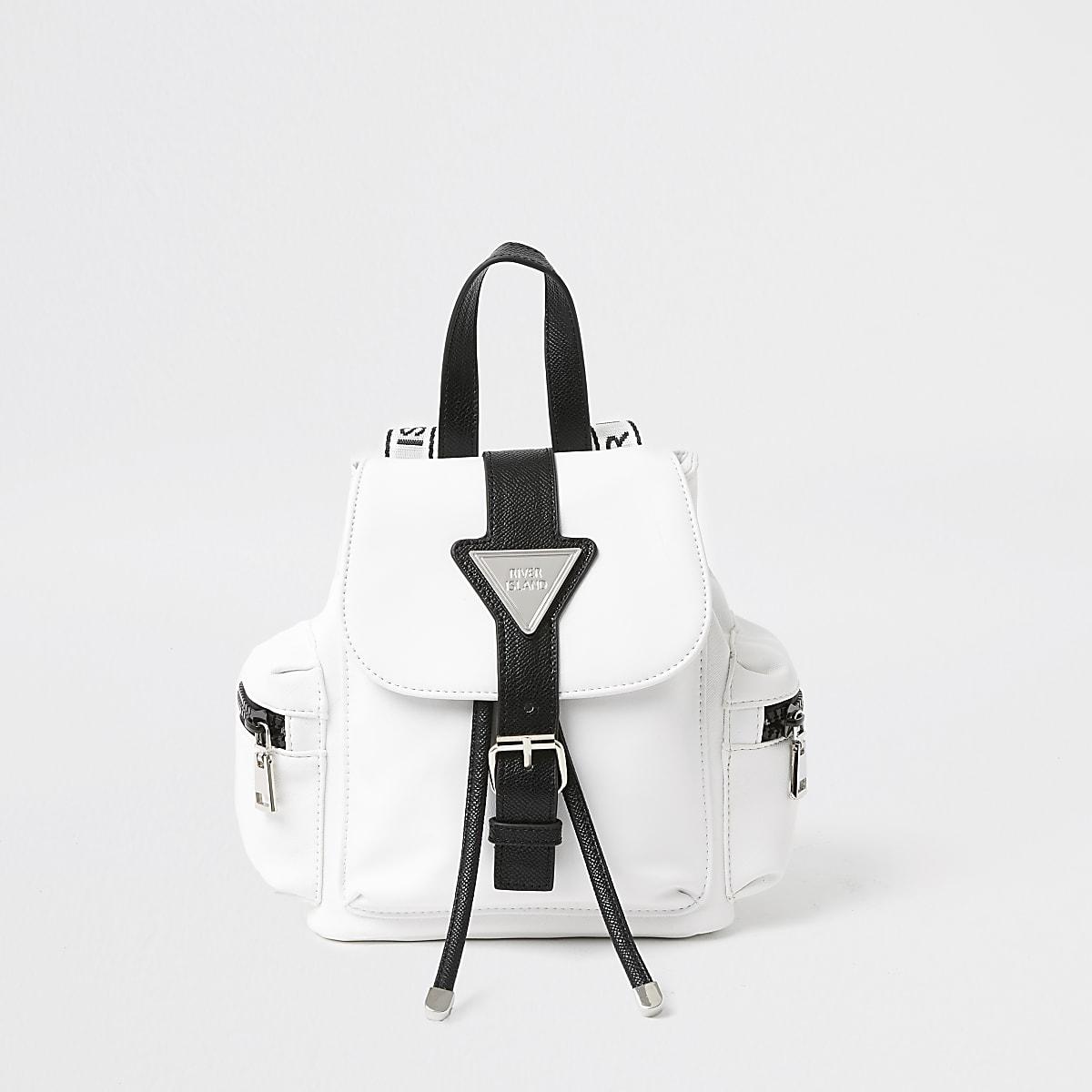 RI white backpack