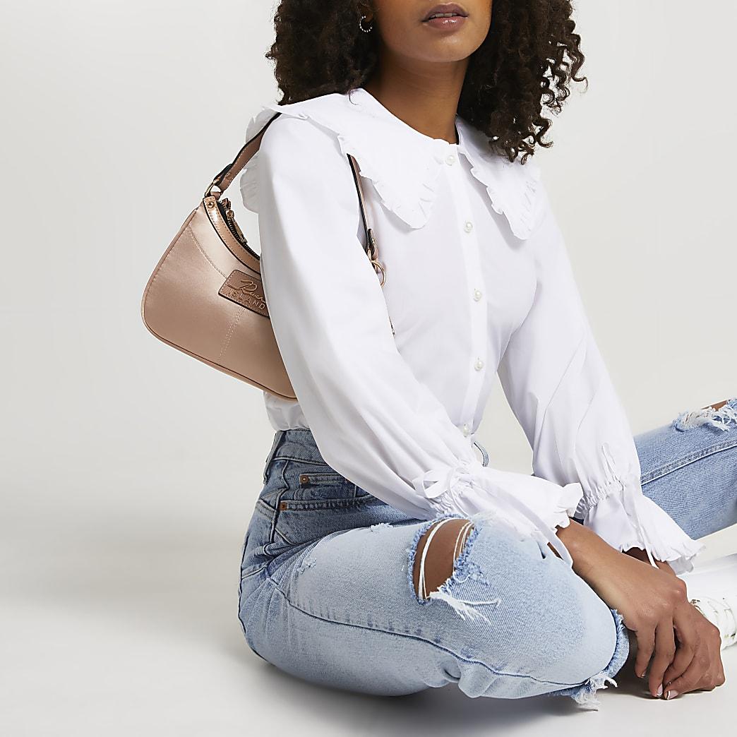White long sleeve collar shirt