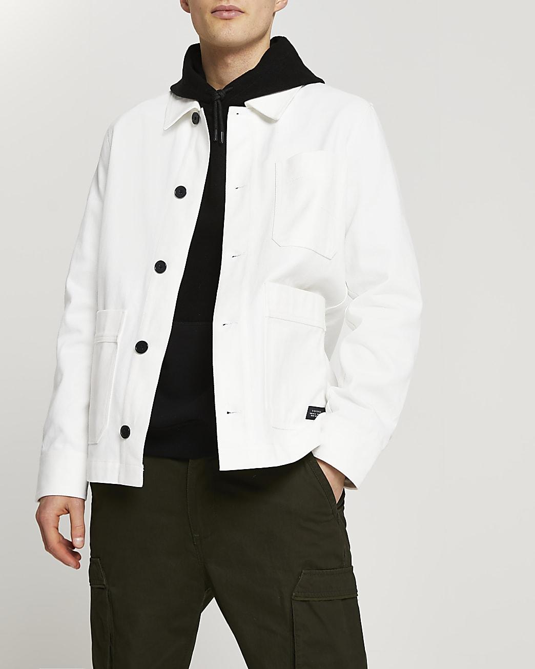 White long sleeve jacket