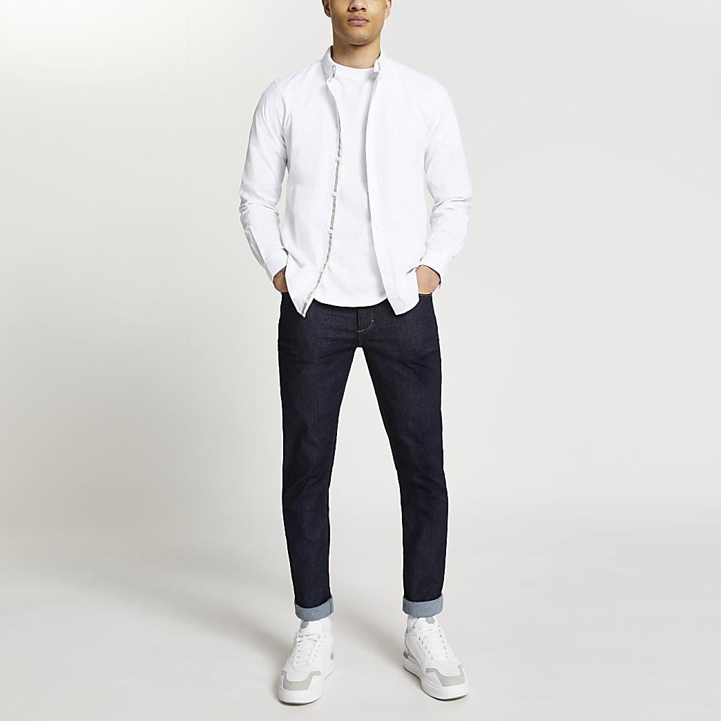 White long sleeve oxford shirt