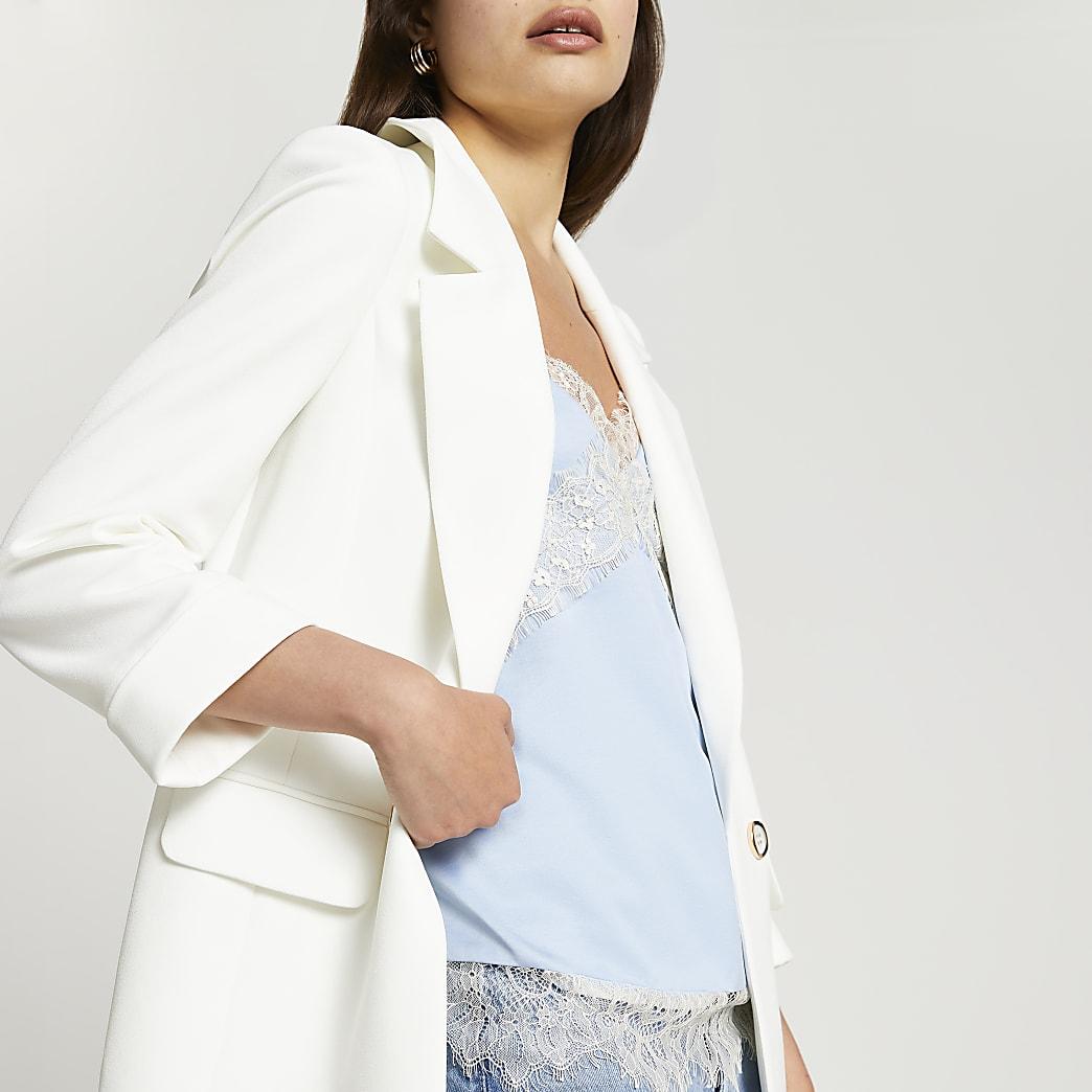 White long soft blazer