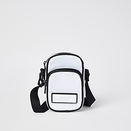 white MCMLX cross body bag