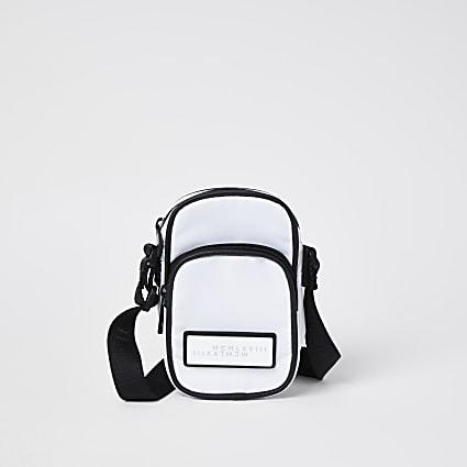 white MCMLX cross body bag