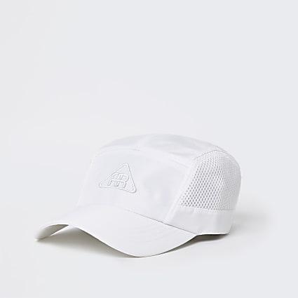 White mesh panel cap