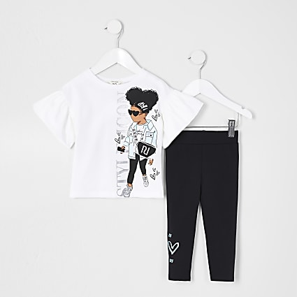 White MG Style Icon Girl Tee and Leg