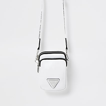 White mini cross body bag
