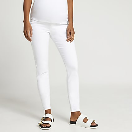 White Molly mid rise maternity jeans
