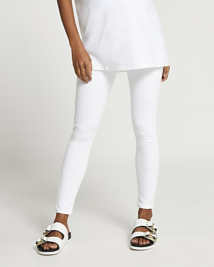 White Molly skinny maternity jeans