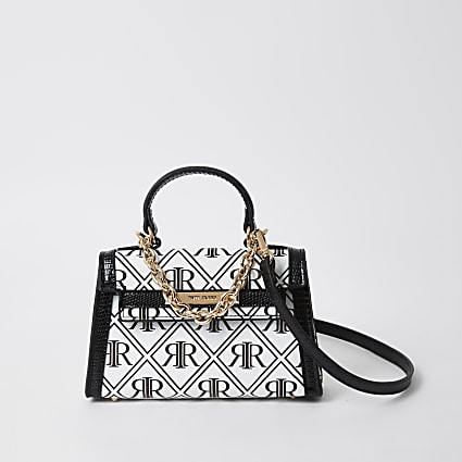White monogram cross body bag