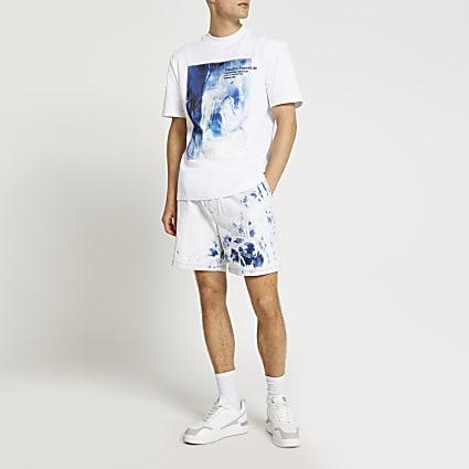 White Neutre Essentiél graphic t-shirt