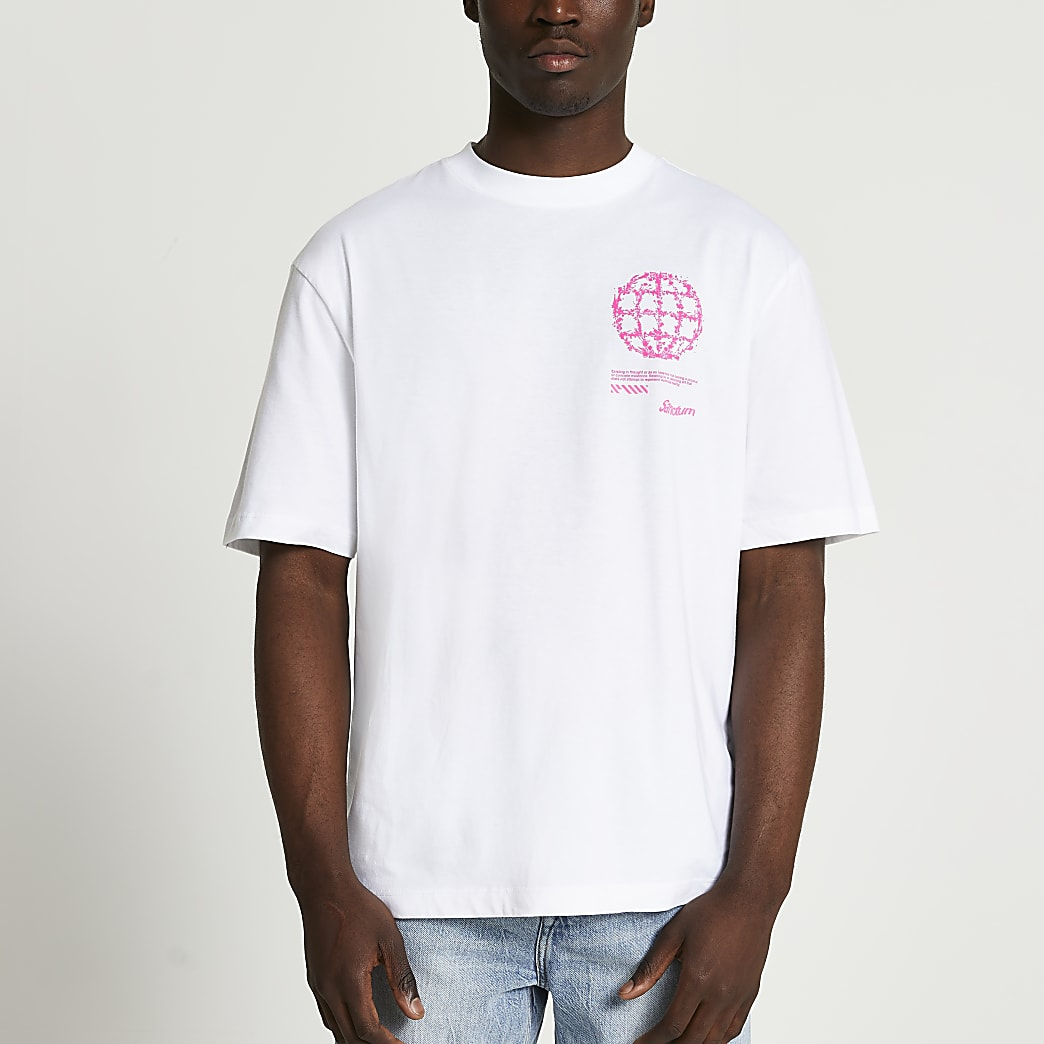 White oversized fit graphic t-shirt