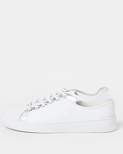 White perpex detail trainers