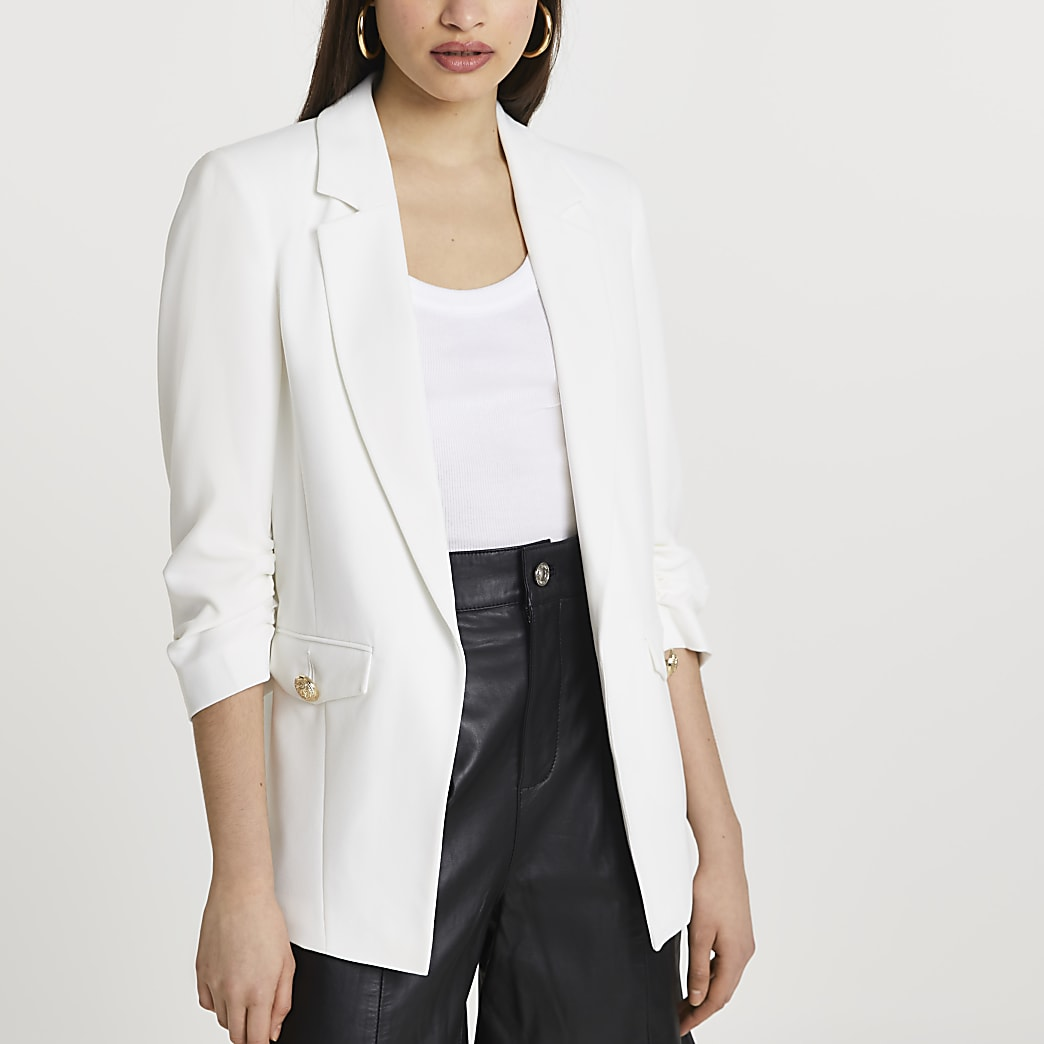 White pocket detail blazer