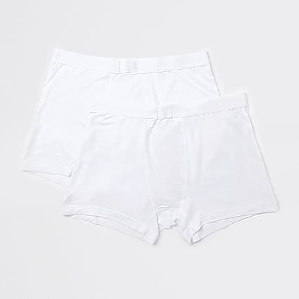 White premium essentials trunks 2 pack