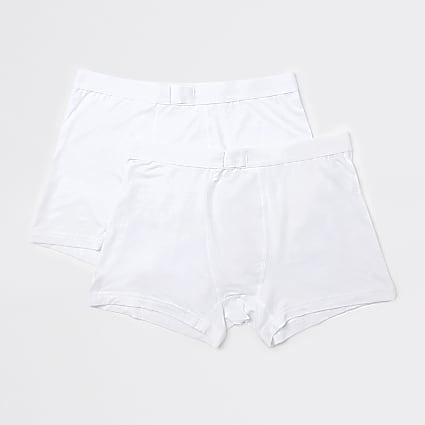 White premium essentials trunks 2 pack