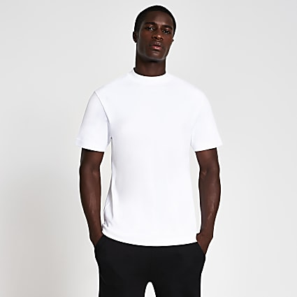 White premium regular fit t-shirt