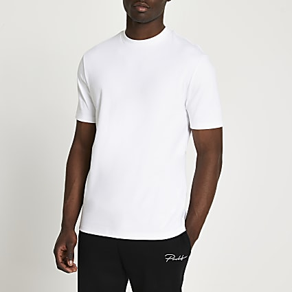 White premium slim fit t-shirt