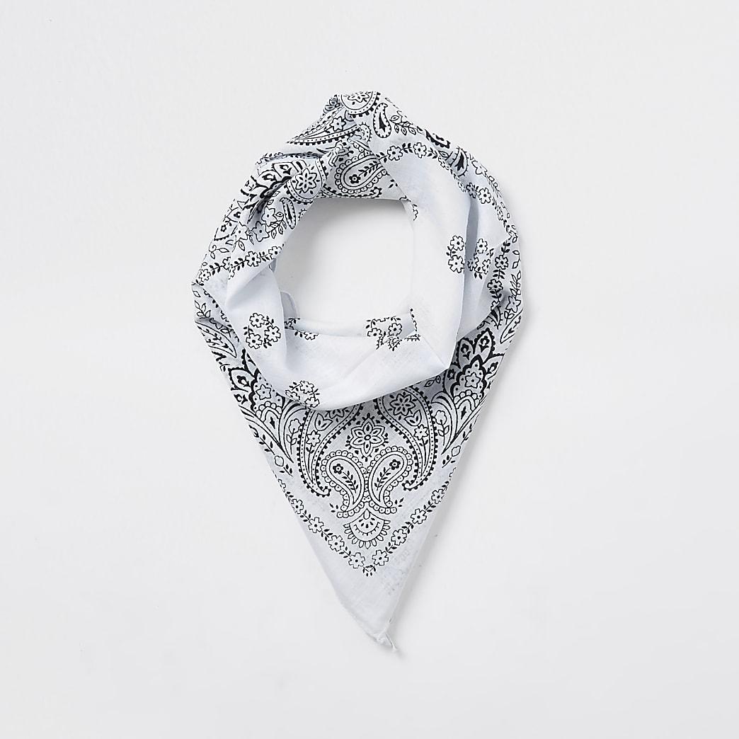 White print bandanna