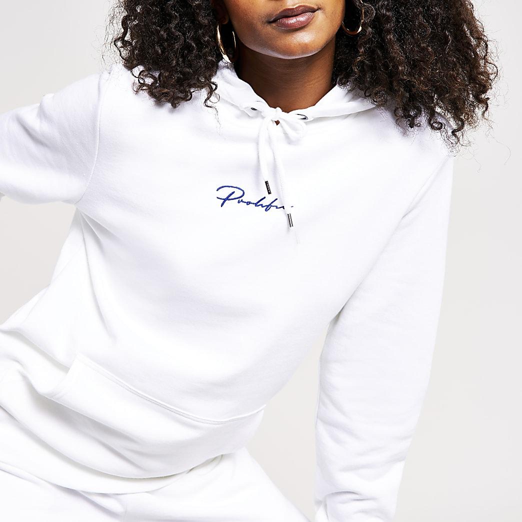 White Prolific hoodie