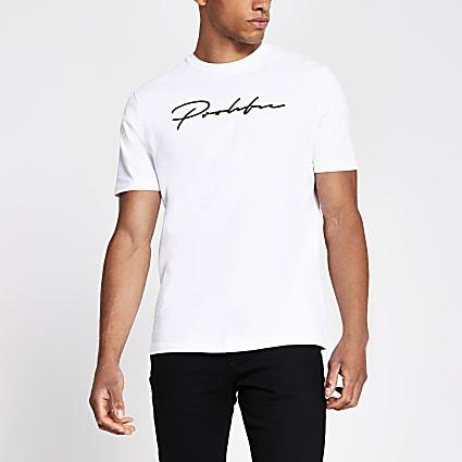 White 'Prolific' slim fit t-shirt