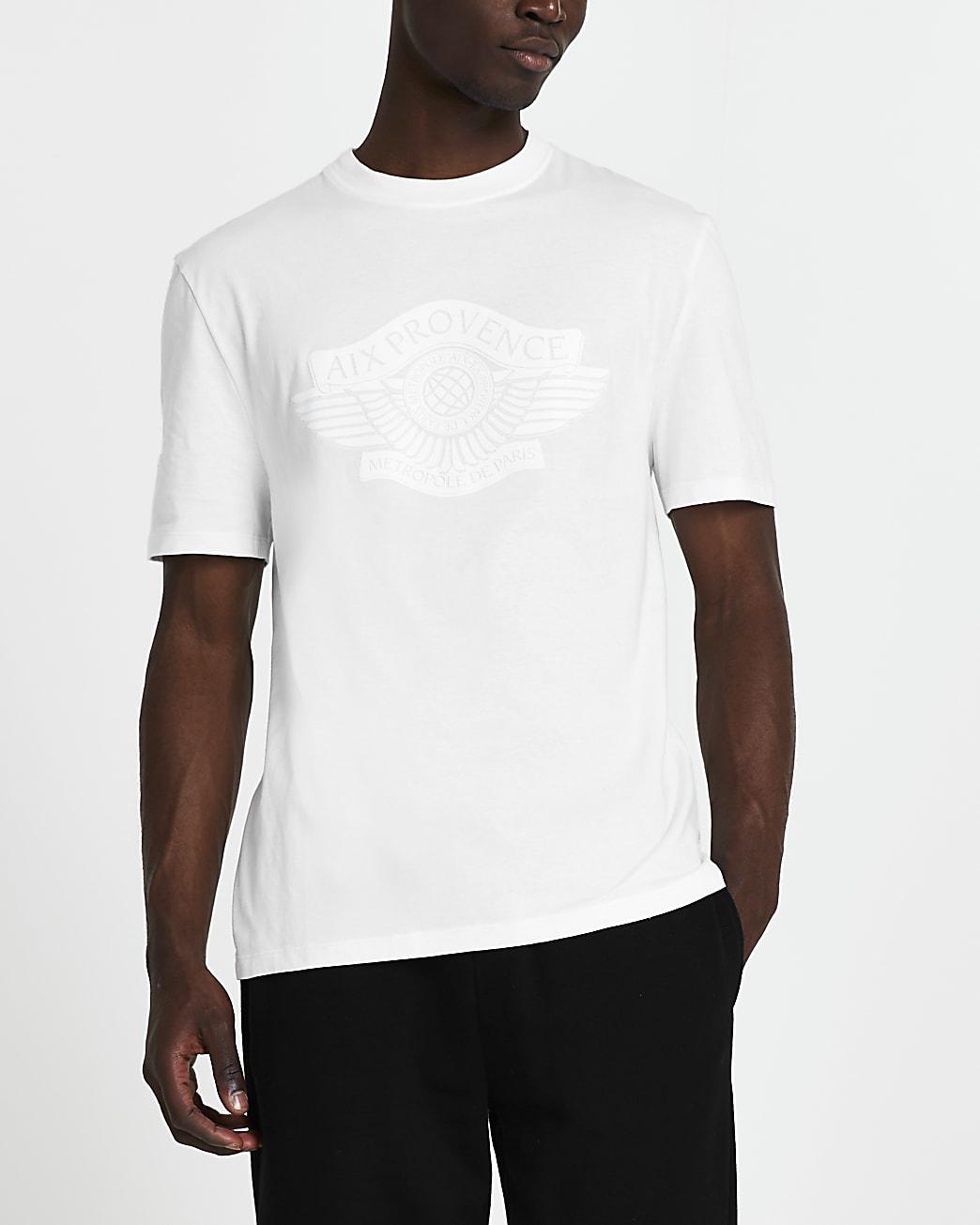 White 'Provence' short sleeve t-shirt
