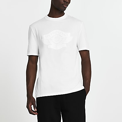 White 'Provence' short sleeve t-shirt