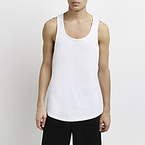 White racer back vest