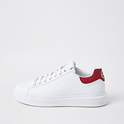 White red back tab trainers