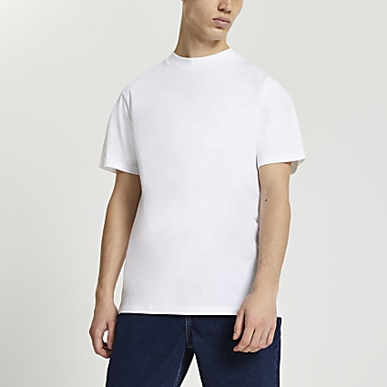 White regular fit t-shirt