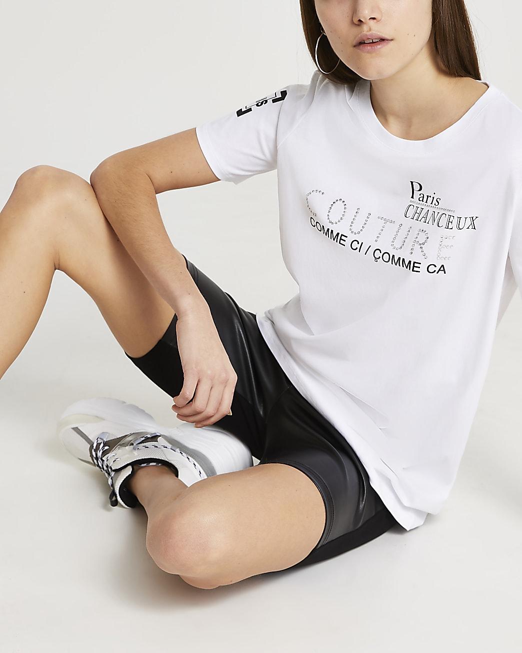 White RI Couture boyfriend t-shirt