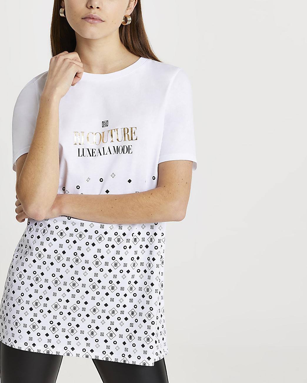 White RI couture monogram boyfriend