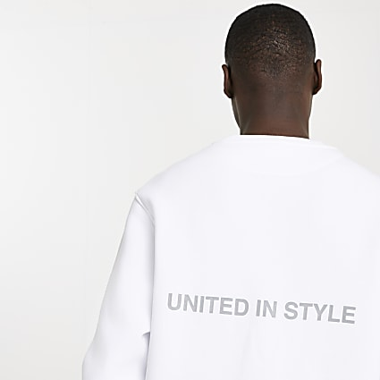 White RI ONE sweatshirt