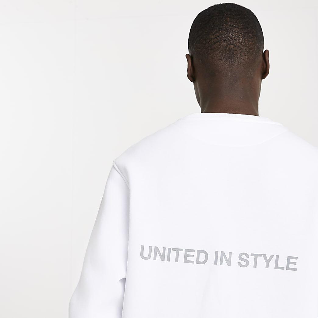 White RI ONE sweatshirt