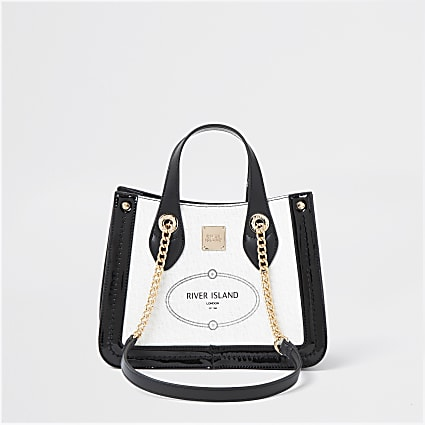 White RI resort shopper bag