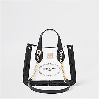 White RI resort shopper bag