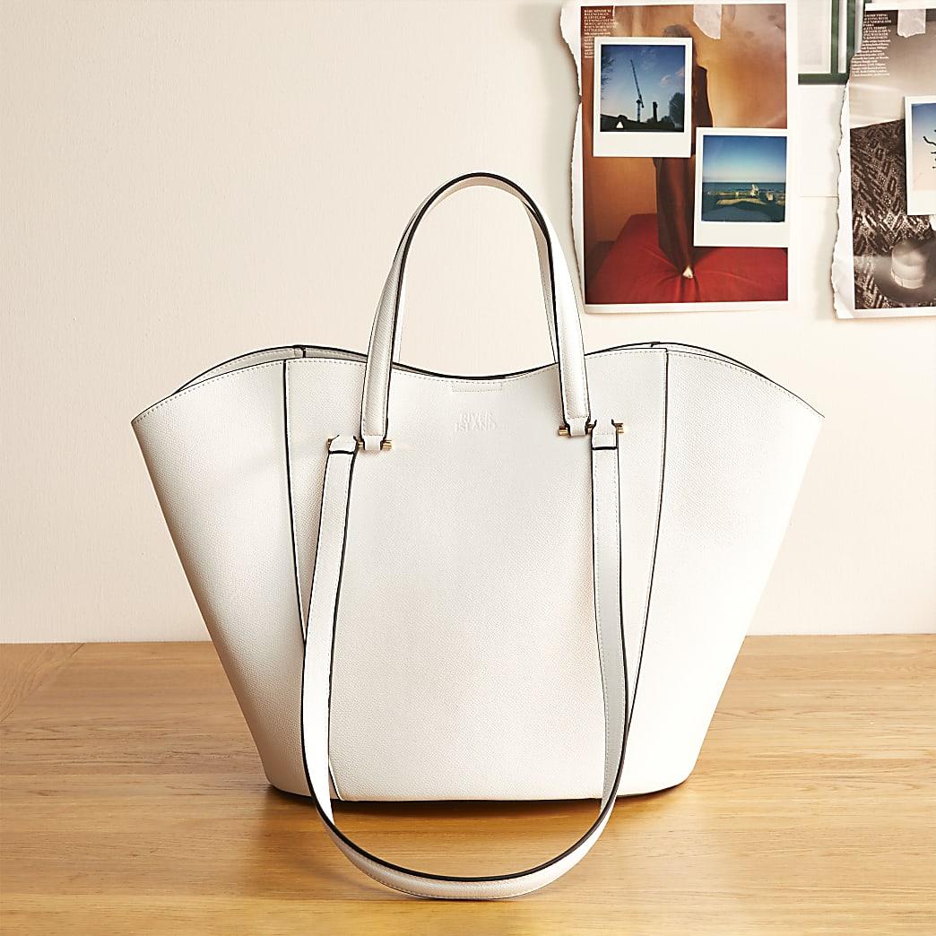 White RI Studio leather tote bag
