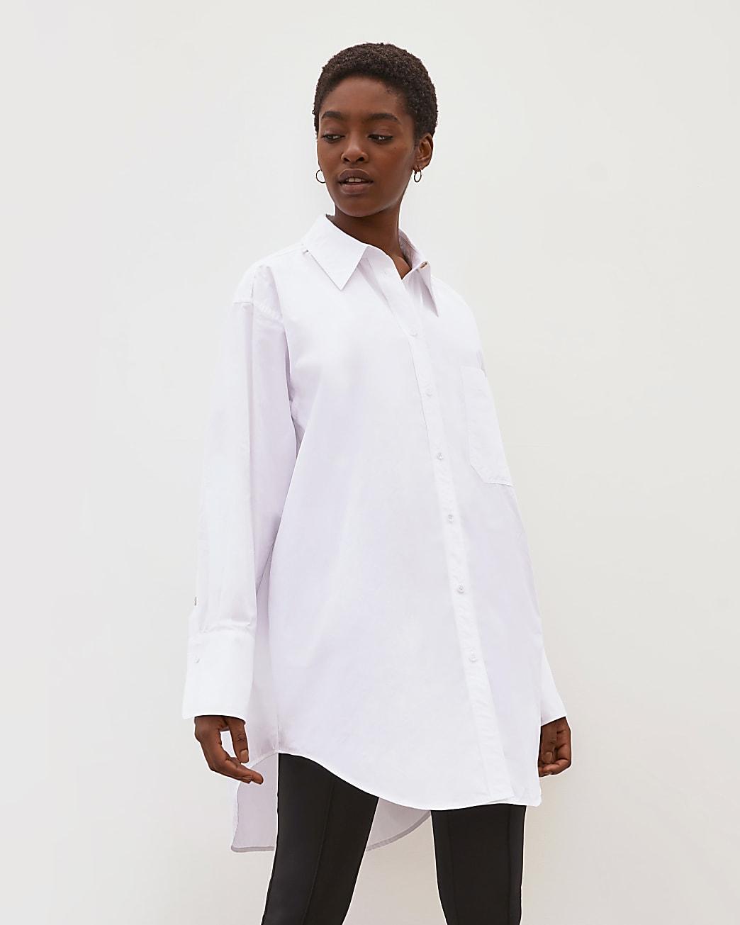 White RI Studio oversized pleated shirt