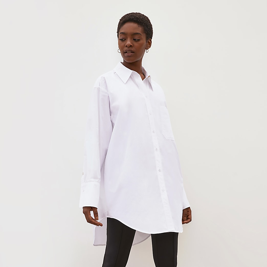 White RI Studio oversized pleated shirt
