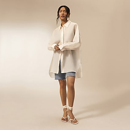 White RI Studio oversized shirt