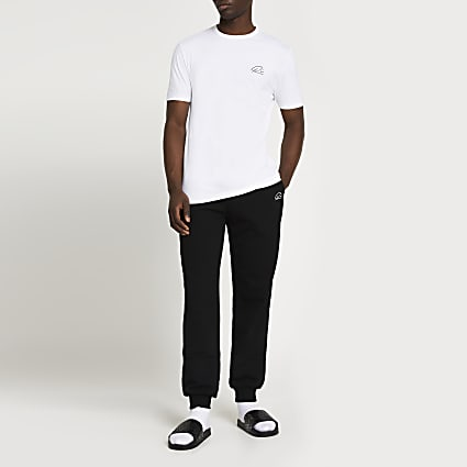 White RI t-shirt and joggers set