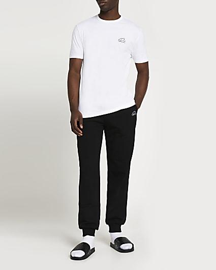 White RI t-shirt and joggers set