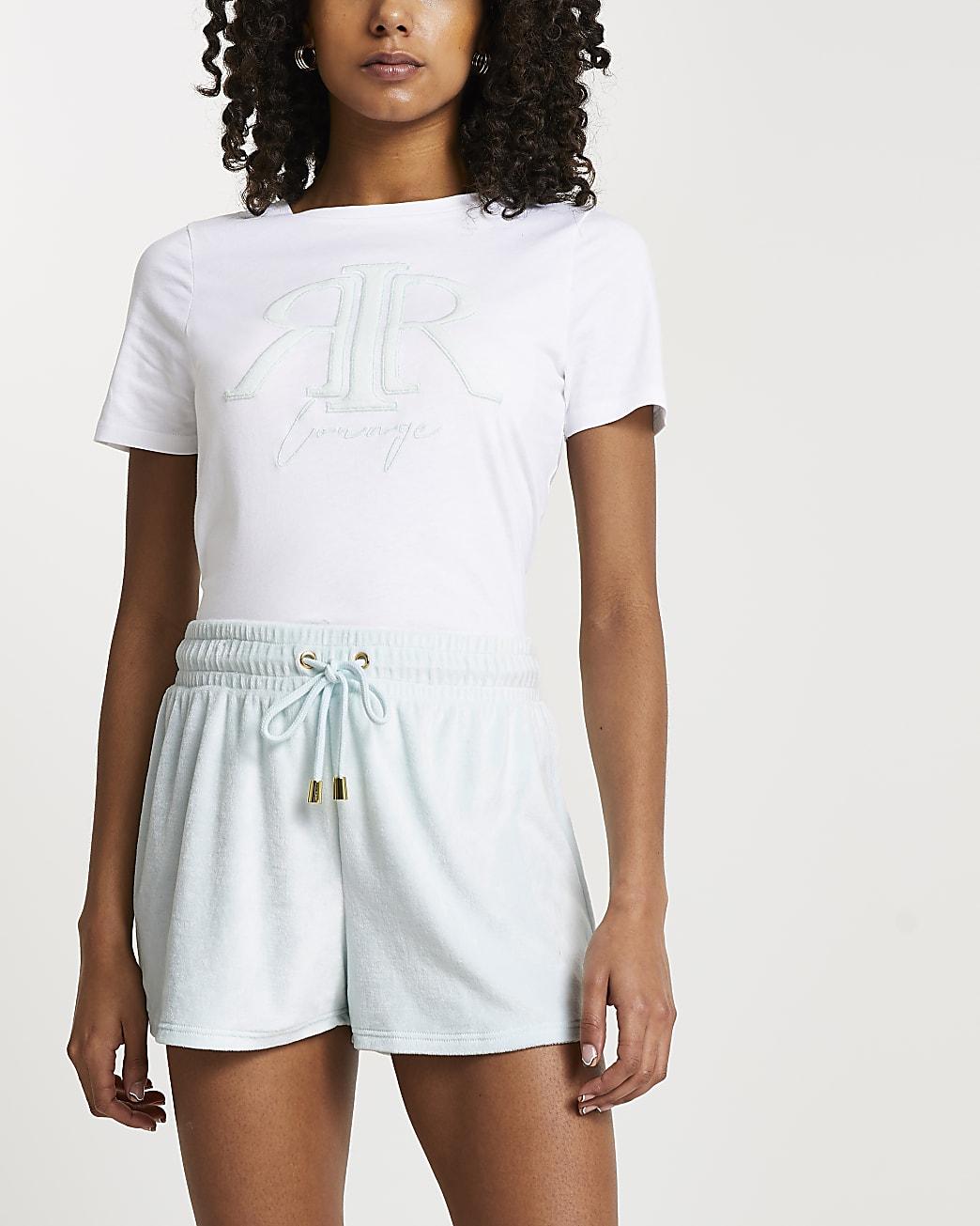 White 'RIR' embossed short sleeve t-shirt