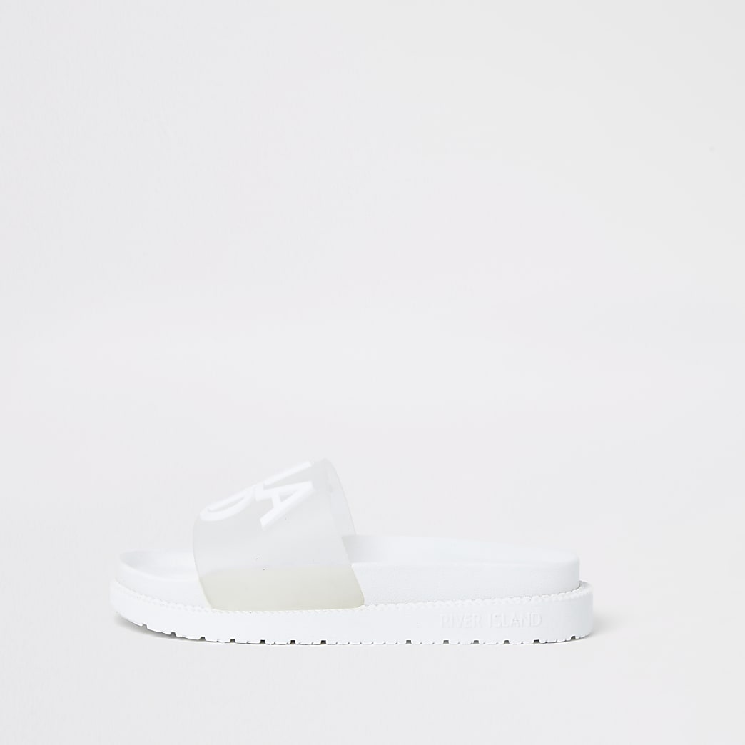 White 'River Island' perspex sliders
