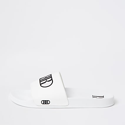White RR embossed sliders
